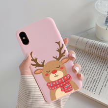 For iPhone 12 Pro Max Christmas Gifts Deer Elk Case For iPhone 11 11Pro Xs Max 7 8 6 6S Plus 5 SE 2020 X XR Soft Silicone Fundas