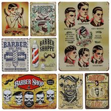 Pósteres de moda estilo Barbero para hombre, estilo Barbero, estilo Barbero, placa de Metal Vintage, pintura de hierro, letrero de estaño para interiores, decoración de pared para Bar