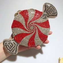 DAIWEI New Women's Clutch Bag Red Candy purse Luxury Crystal