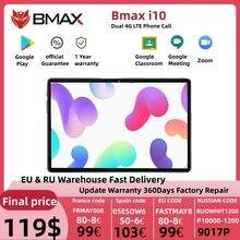 BMAX – tablette PC i10 Android 10, 10.1x1920, Octa Core, 4 go de RAM, 64 go de ROM, réseau 4G, port type-c, double Wifi, 1080
