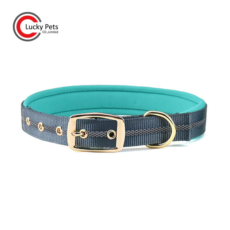 Hot Sales New Style Dog Neck Ring Nylon Rivet Reflective Neoprene Pet Collar Adjustable Customizable