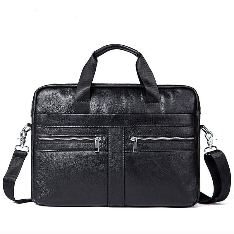 Business Men's Briefcases Men's Bag Genuine Leather Messenger Bags Laptop Bag Leather Briefcase Office Bags For Men 2019