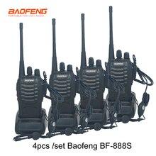 4 قطعة/المجموعة جديد الأصلي Baofeng BF888S اسلكية تخاطب BF 888s 5W 16CH UHF 400 470MHz BF 888S اسلكية لاسلكي اتجاهين راديو