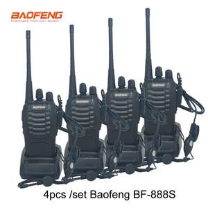 Image 1 - 4 pcs/set New Original Baofeng BF888S Walkie Talkie BF 888s 5W 16CH UHF 400 470MHz BF 888S walkie talkie two way Radio