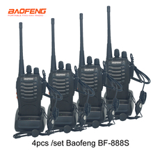 4 sztuk/zestaw nowy oryginalny Baofeng BF888S walkie talkie BF 888s 5W 16CH UHF 400 470MHz BF 888S walkie talkie dwukierunkowe Radio