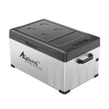 Portátil dc 24v 12v carro geladeira freezer refrigerador 25l auto geladeira compressor de refrigeração rápida casa piquenique icebox