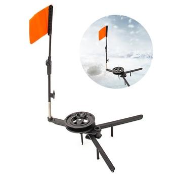 Składana zimowa wędka do wędkowania podlodowego Tip-up ze szpulą automatycznie flaga zewnętrzna do zimowych akcesoriów wędkarskich