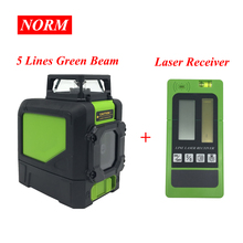 Laser Level Laser-Receiver-Clamp Norm Green-Beam Vertical Plus-Line 360-Horizontal And