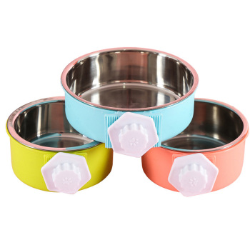 Cage Bowl Hanging Dogs Dog Feeder Pet Feeding Bowl 3 Colors Separable Hamsters Puppy Water Food 1