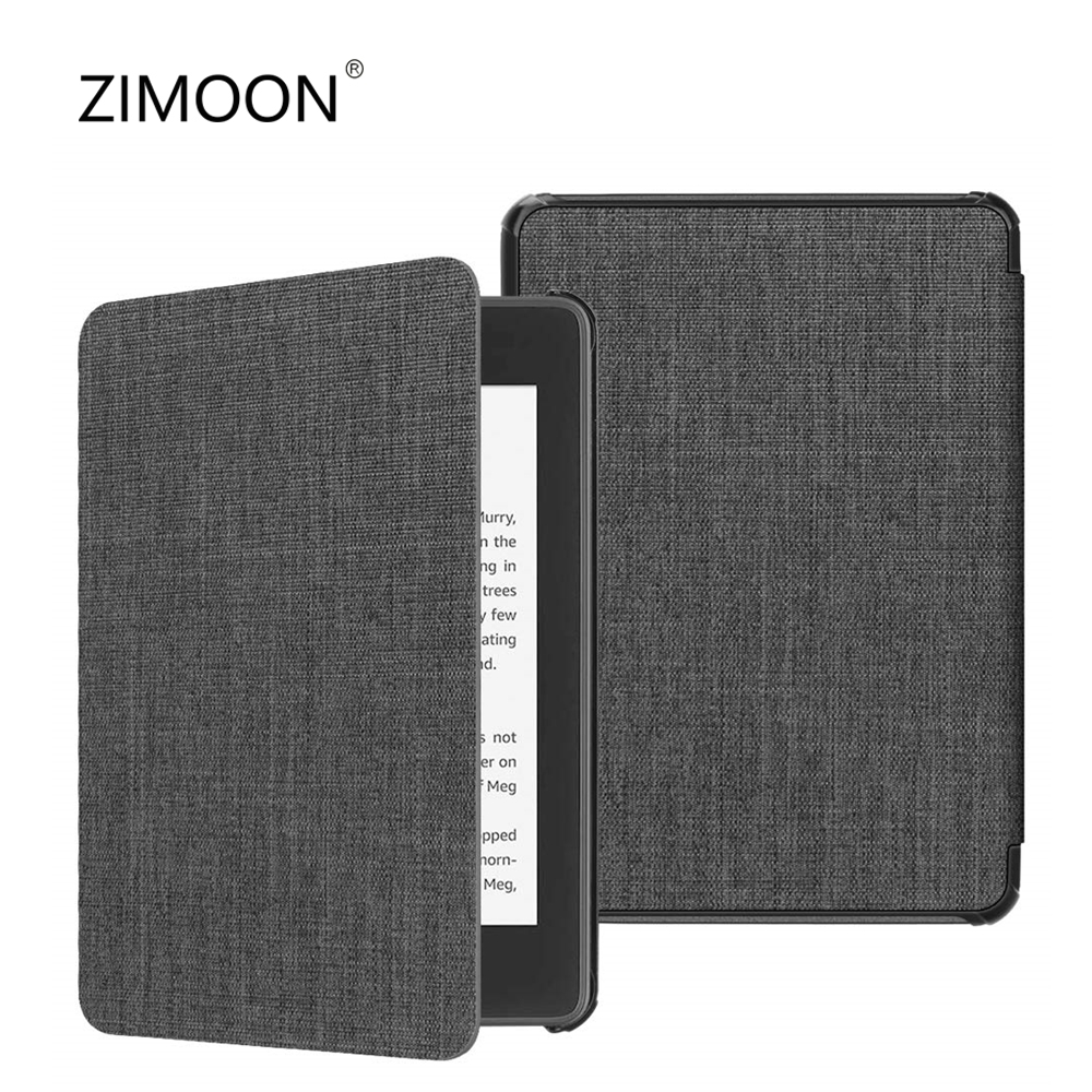 For Kindle Paperwhite 4 Case Cloth Texture PU Leather Smart Case PC Back Hard Cover For New Kindle Paperwhite 10th 2018 Released