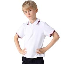 Jargazol Boys Clothes 10 Years Big Boy Summer Short Sleeve Shirt Fashion Cotton Teenagers Girls School Polo Shirts Sport Polo