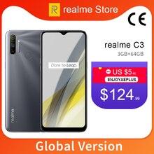 realme C3 Global Version 3GB 64GB 6.5'' Moblie Phone Helio G