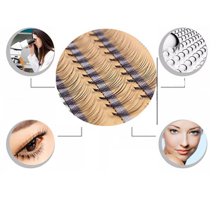 Image 3 - New 60 bundles Individual Cluster Eye Lashes Grafting Eyelash Extensions 0.1mm Thickness 6 14mm Length Available
