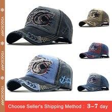 Retro czapka z daszkiem mężczyźni list wędkarstwo haft tata kapelusz myte kości kapelusz regulowana klamra zamknięcie czapka typu Trucker sport czapka golfowa