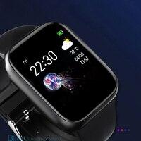 Reloj inteligente deportivo de silicona para hombre y mujer, pulsera electrónica para Android IOS, rastreador de Fitness, novedad de 2021