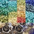 20 gr/los Multicolor Kleine Steine Gebrochen Glas Nagel Kies Glitter Strass für DIY Epoxy Harz Füllstoff Anhänger Schmuck Machen