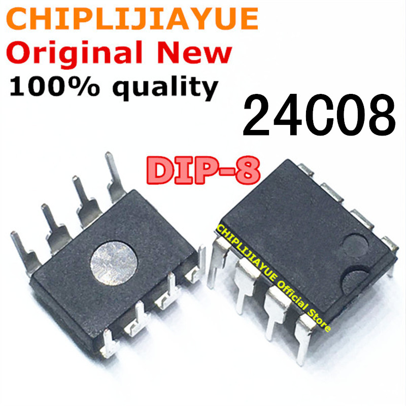 10PCS 24C08 AT24C08 DIP8 AT24C08A DIP AT24C08AN DIP-8 New And Original IC Chipset