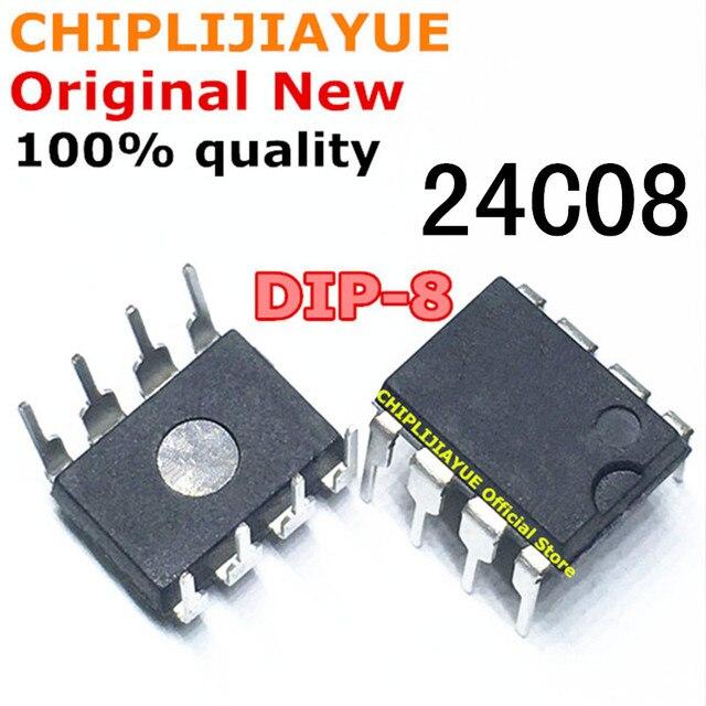 10 PIÈCES 24C08 AT24C08 DIP8 AT24C08A DIP AT24C08AN DIP-8 nouveau et original IC Chipset