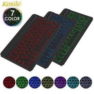 Ultra Thin 7 Colors LED Backlit Backlight Wireless Russian/Spanish/Arabic Bluetooth Keyboard For iPad Air 10.5 pro 9.7 keyboard