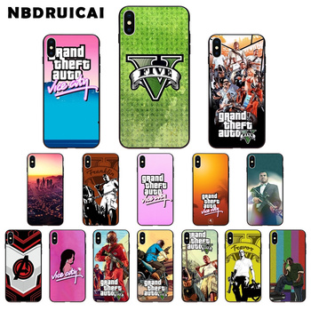 NBDRUICAI Grand Theft Auto GTA V TPU Soft Silicone Phone Case Cover for iPhone 11 pro XS MAX 8 7 6 6S Plus X 5 5S SE XR case image
