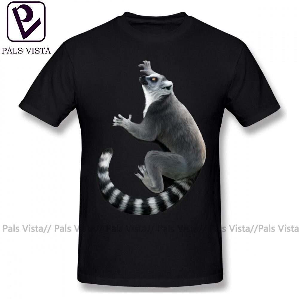 Lemur T Shirt Ring Tailed Lemur T-Shirt Beach Print Tee Shirt Man Cute Short Sleeve 4xl 100 Cotton Tshirt