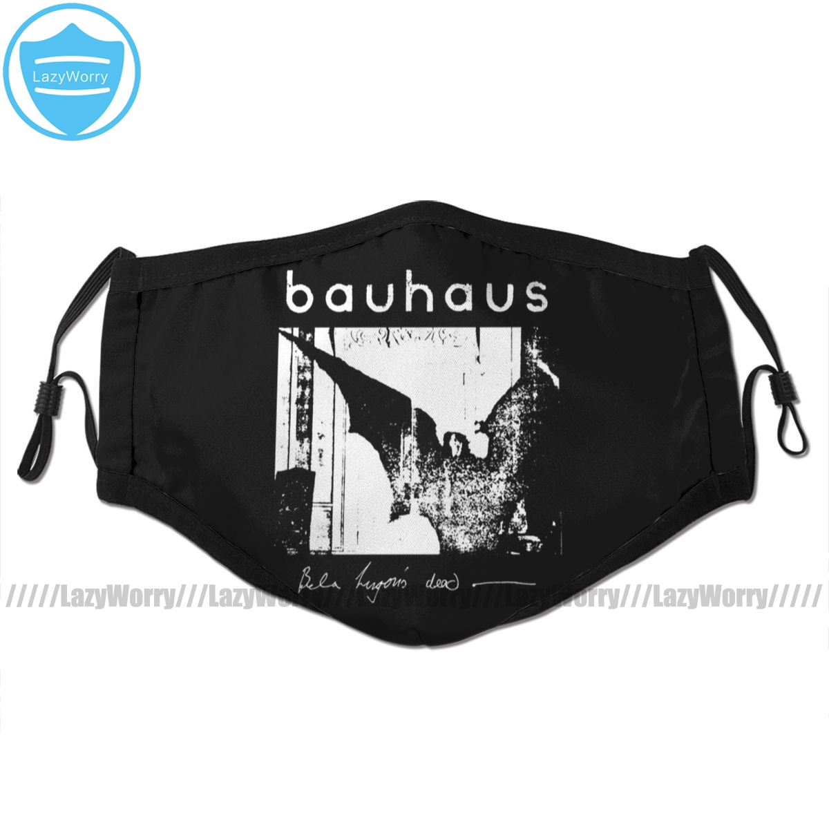 Gothic Wings Mouth Face Mask Bauhaus Bat Wings Bela Lugosis Dead Facial Mask Cool Fashion With 2 Filters For Adult