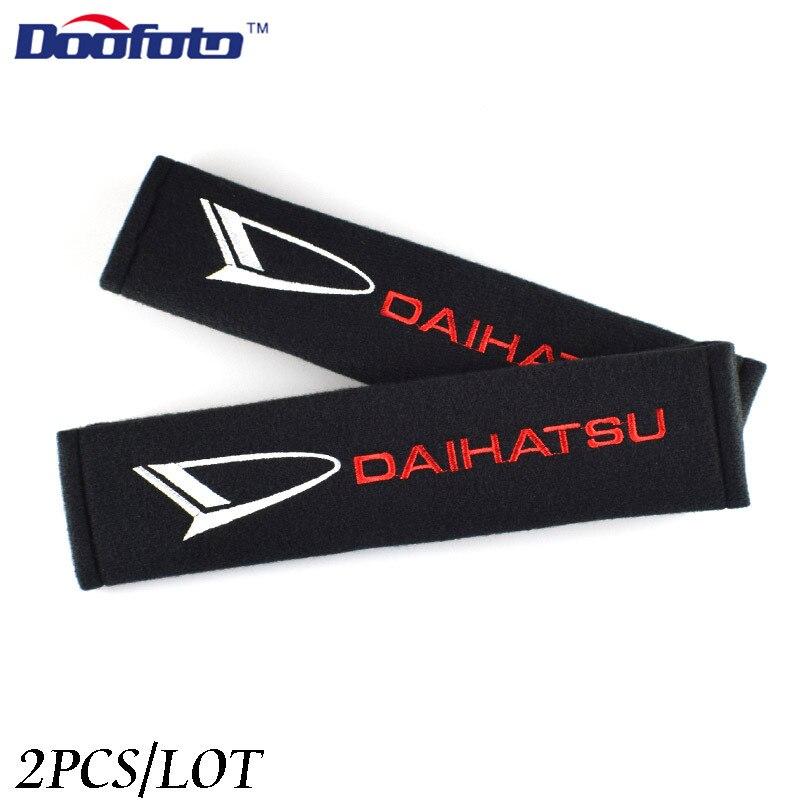 Doofoto cinturón de seguridad de coche cubierta de hombro almohadilla protectora para Daihatsu Terios Sirion Mira Materia Rocky YRV Feroza Charade Accesorios