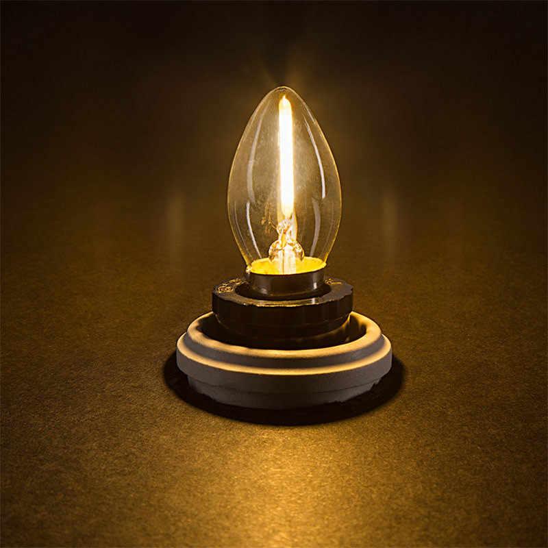 E12/14 Pequeno Parafuso Buraco LED Edison Lâmpada C7 Noite Lâmpada Vela Lâmpada de Cristal Da Lâmpada Lâmpada Quente Branco Amarelo Quente fonte de luz