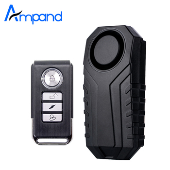 Ampand Waterproof Bike Motorcycle Electric Bicycle Security Anti Lost Wireless Remote Control Vibration Detector Alarm 2