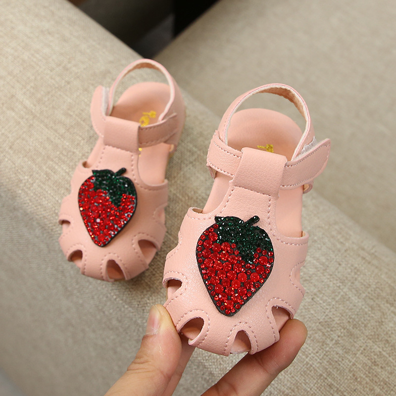 Spring 2019 Children Canvas Casual Shoes Kids Lovely Bow strawberry Flat Heels Shoes Girls Princess Solid Color in Sneakers from Mother Kids