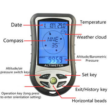 Multifunctional Digital Alarm Clock Weather Station Digital Thermometer Wireless Sensor Forecast Temperature Clock