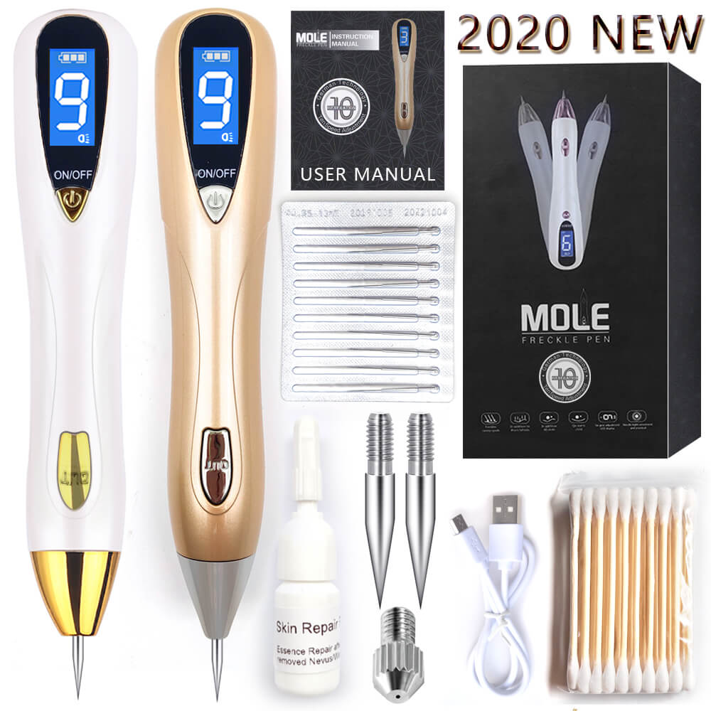 Mole Removal Pen Wart Plasma Remover Tool Laser Beauty Skin Care Corn Freckle Tag Nevus Dark Age Sweep Spot Tattoo Electric Sets