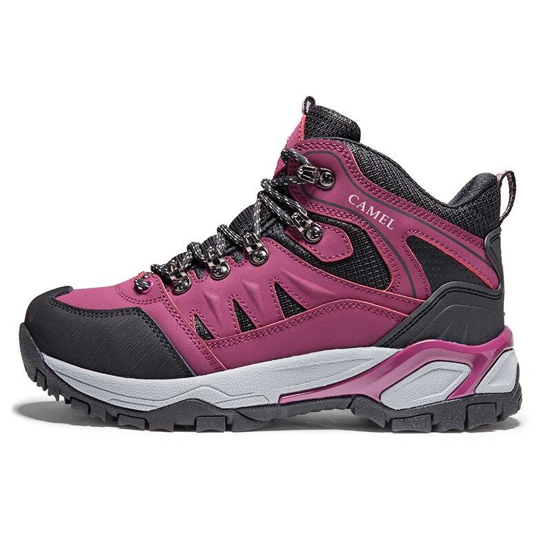 Image 4 - CAMEL/Новинка; женская обувь; высокие походные противоскользящие  дышащие ботинки для альпинизма; треккинговые ботинки; уличная спортивная  обувьПоходная обувь