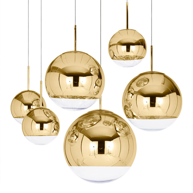 Nordic Modern Globe Glass Pendant Lamp Silver Gold Color For Dinning Room Living Room Kitchen Light Home Decoration Lighting E27
