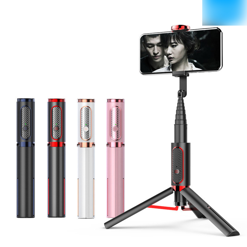 Cross Border Hot Selling Phantom 202 Bluetooth Selfie Stick Aluminum Alloy Belt Reinforced Mobile Phone Tripod Mini Selfie Stick