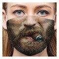 Маска для косплея с забавным песком для взрослых, шарф с противовирусной инфекцией, дышащая маска, колпачки для рта, моющиеся защитные колпа...