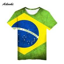 Hot Sale Brazil National Flag 3D t shirt kids Men W