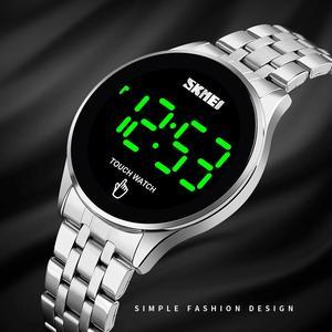 Image 2 - ספורט דיגיטלי שעון SKMEI מותג גברים של שעוני יוקרה נירוסטה גברים שעוני יד LED אור תצוגה אלקטרוני שעון צמיד