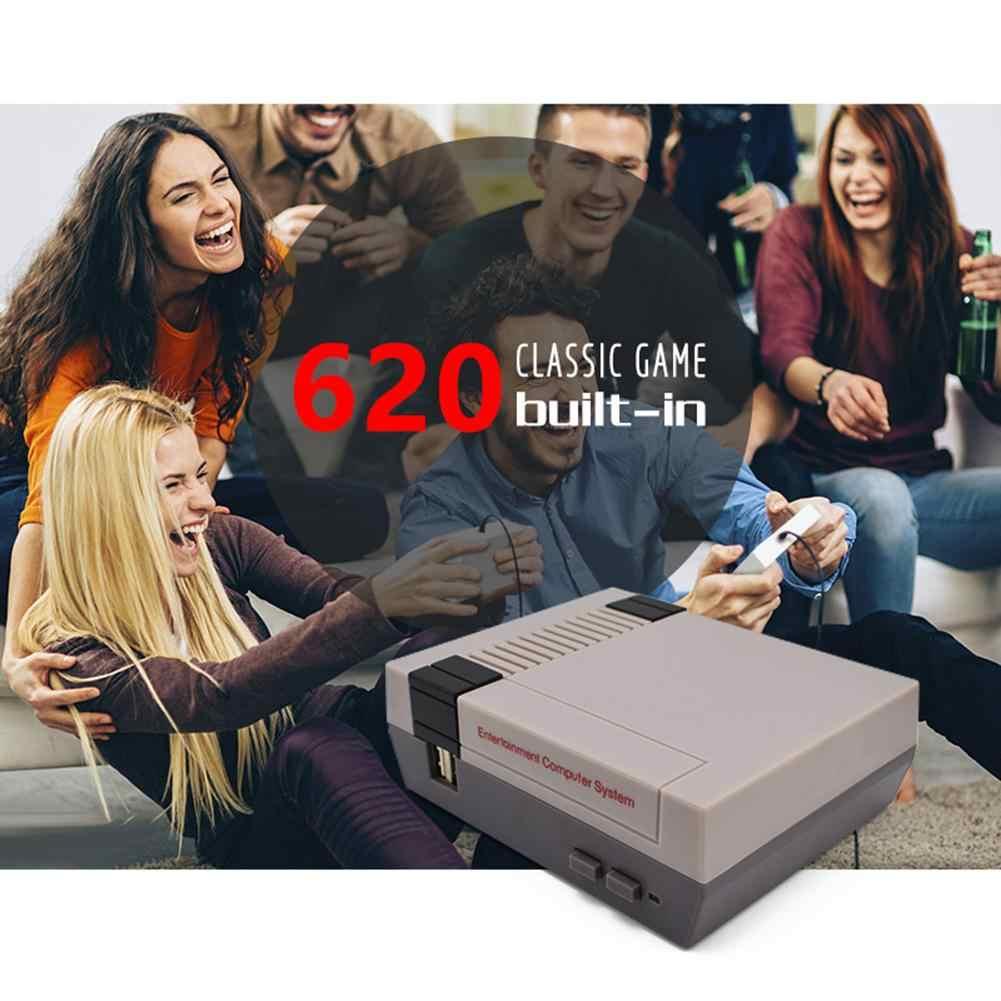 El TV video oyunu konsolu dahili 620 klasik oyunlar AV bağlantı noktası 8Bit Retro oyun oyuncu Gamepad çocuk yetişkinler doğum günü hediyesi