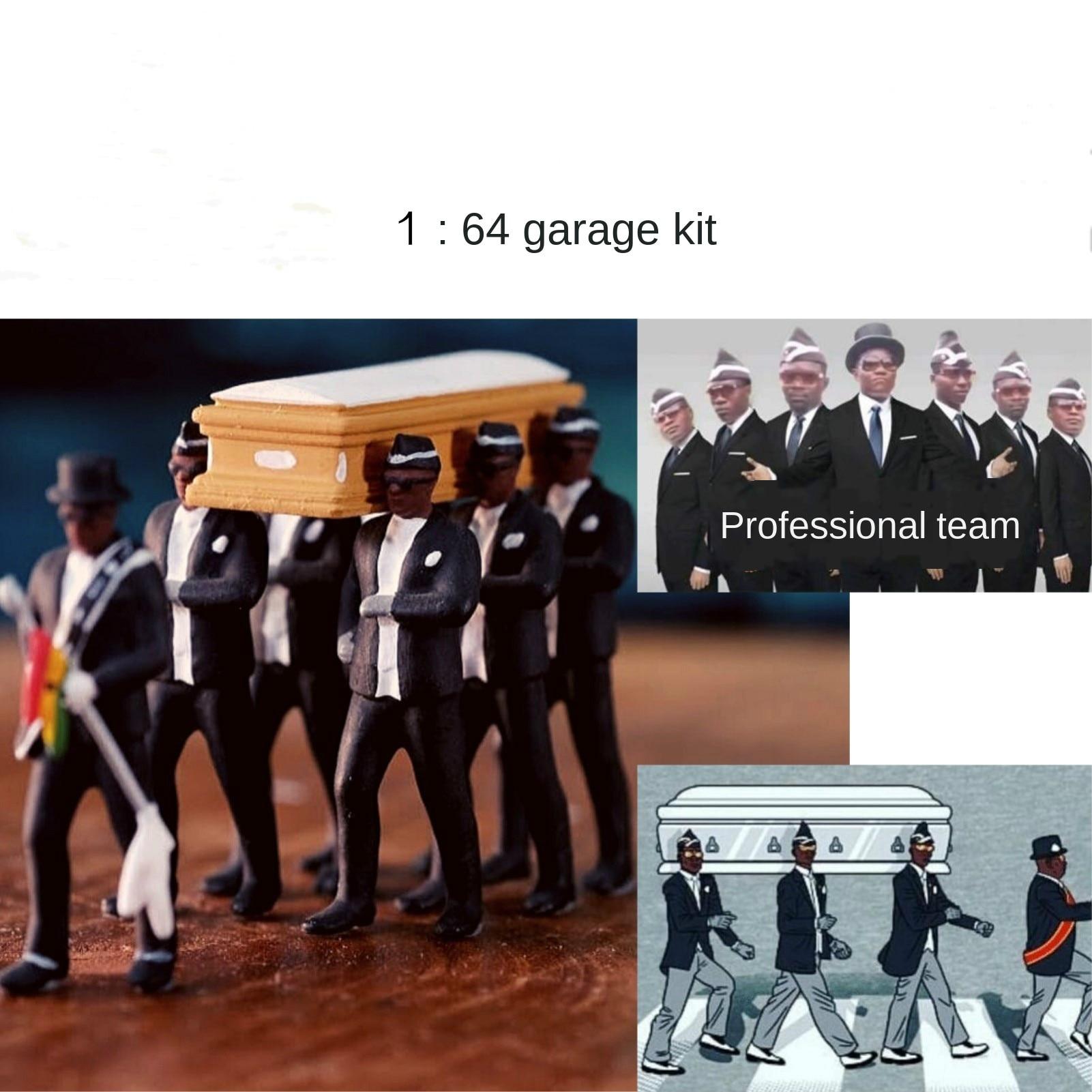 Cosplay Ghana Dancing Pallbearers Coffin Dance Figure Action Funeral Dancing Team Display Funny Accessories