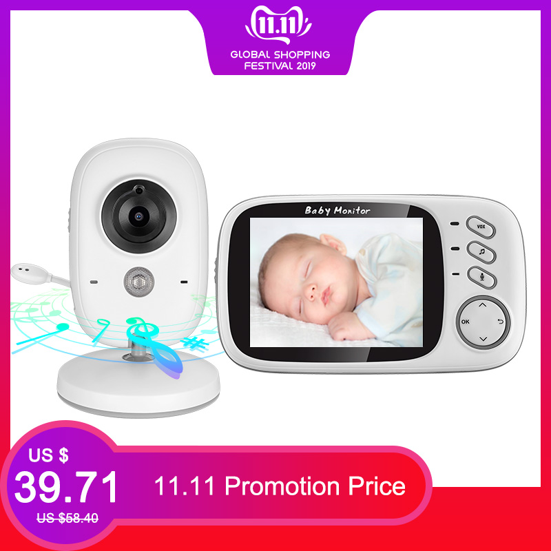 VB603 Wireless Video Color Baby Monitor 3.2 Inch High Resolution Night Vision Temperature Monitoring Baby Nanny Security Camera-in Baby Monitors from Security & Protection