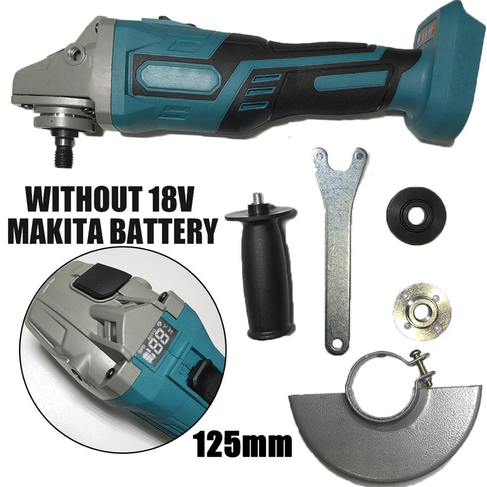 100mm 125mm Brushless Angle Grinder Without Battery For Makita 18V Electric Angle Grinder Power Tools Woodworking Carpinteria