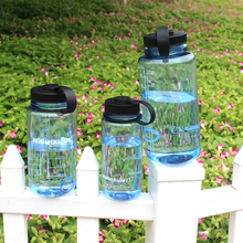 Plastic Water Bottle Wide Mouth Large Capacity BPA Free Training Drinking Double Scale Line Oz Bottle--400ml 800ml 1000ml