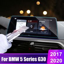 lsrtw2017 fiber leather car trunk mat for bmw 5 series g30 2018 2019 2020 520 528 530 535 540 Car Screen Protector Film For BMW 5 Series G30 520 525 530 545 2017 2018 2019 2020 Tempered Glass Car Navigation Screen Sticker