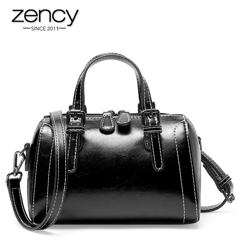 ZENCY 100% Genuine Leather New Arrivals Fashion Women Tote Handbag High Quality Small Flap Elegant Lady Shoulder Crossbody Bags
