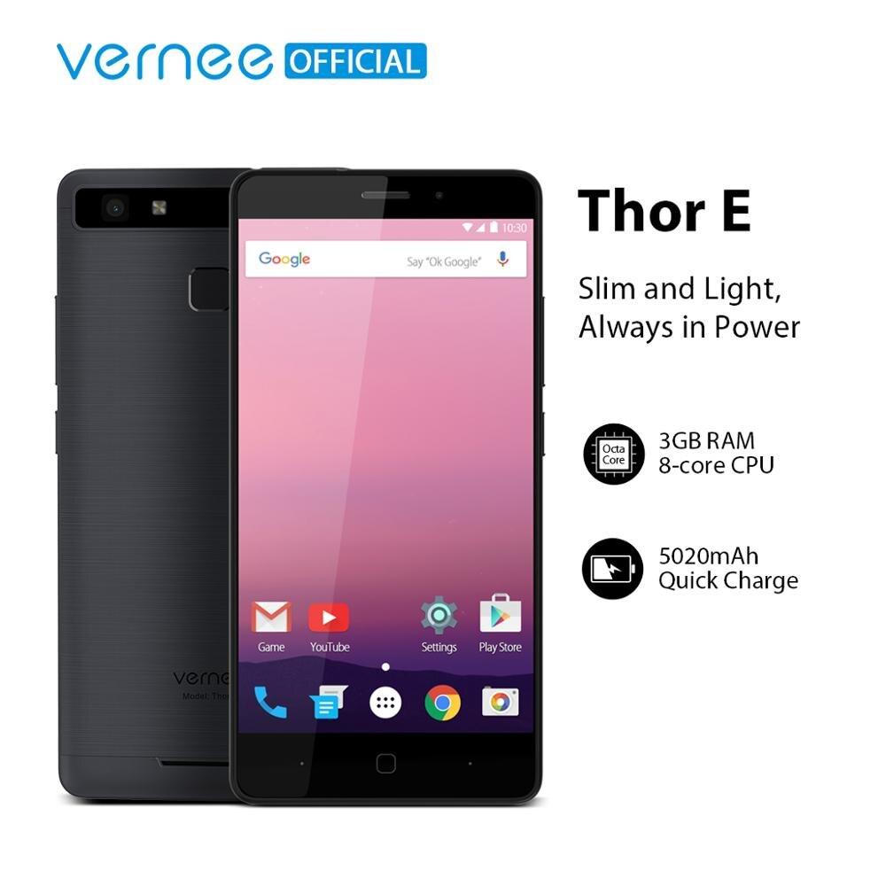 Vernee Thor E 5020mAh grande batterie Charge rapide téléphone portable 4G LTE double SIM 5MP + 13MP Smartphone   AliExpress