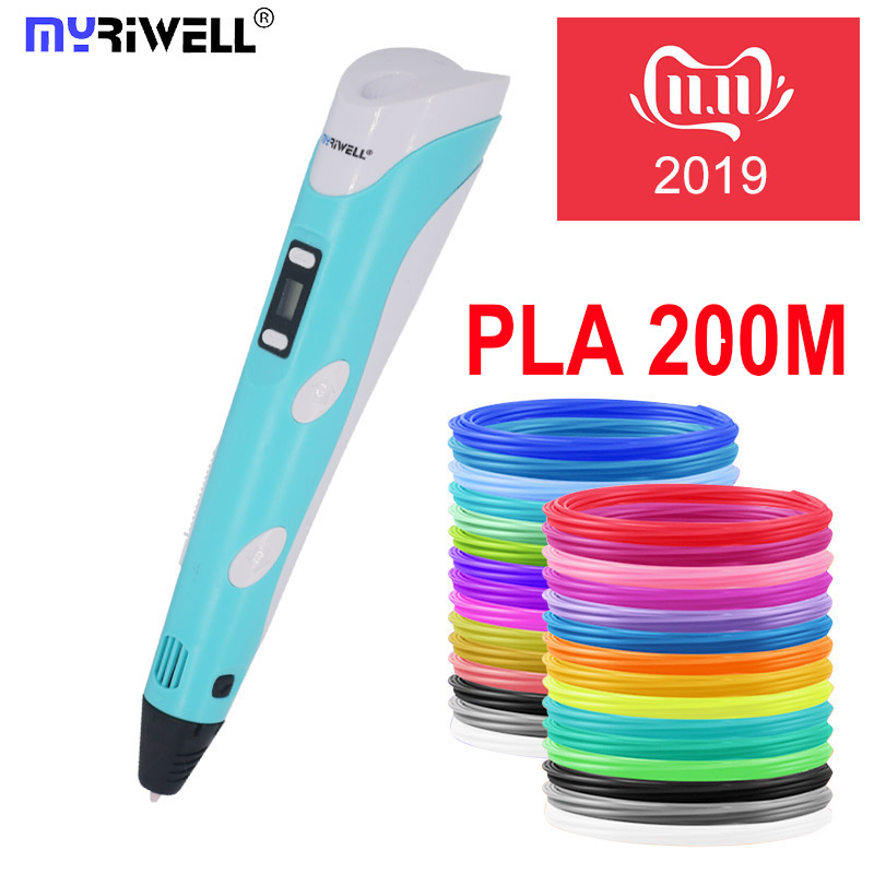 Myriwell 3d pen 3d pens,Bright color, 1.75mm filament,3 d pen+Finger sleeve 3d printed pen best kid gifts