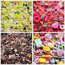 DIY Mix Kawaii Food, Cute Unicorns, Resin Flatback Cabochons for Phone Case Deco, Scrapbooking,  Lucky Bag
