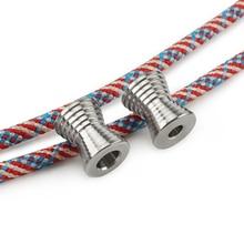 1PCS Horn Mini Titanium Alloy Knife Beads Paracord Umbrella Rope Outdoor EDC Bead