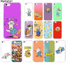MaiYaCa RUGRATS Rocko modernos vida cão Shell Transparente Tampa Do Telefone para Apple iphone 11 pro 8 7 66S Plus X XS MAX 5S SE XR(China)